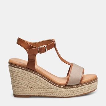 Sandales compensées bata, Jaune, 769-8916 - 13
