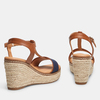 Sandales compensées bata, Bleu, 769-9916 - 16