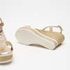 Sandales à plateforme bata, Or, 764-5153 - 19