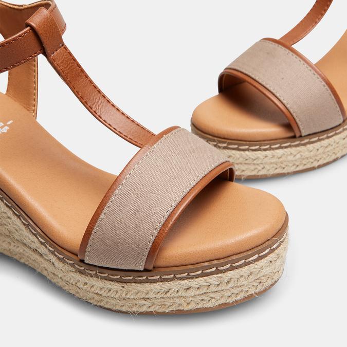 Sandales compensées bata, Jaune, 769-8916 - 17