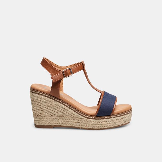 Sandales compensées bata, Bleu, 769-9916 - 13