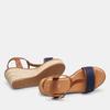 Sandales compensées bata, Bleu, 769-9916 - 19
