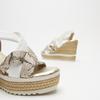 Sandales à plateforme bata, Blanc, 764-1158 - 16