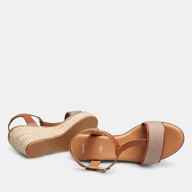 Sandales compensées bata, Jaune, 769-8916 - 19