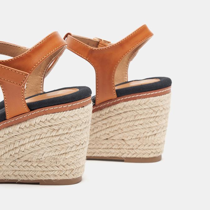 Sandales compensées bata, Noir, 769-6913 - 16