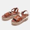 Sandales compensées bata, Brun, 761-3923 - 26