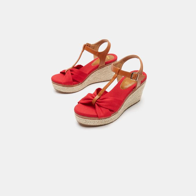 Sandales compensées bata, Rouge, 769-5913 - 15