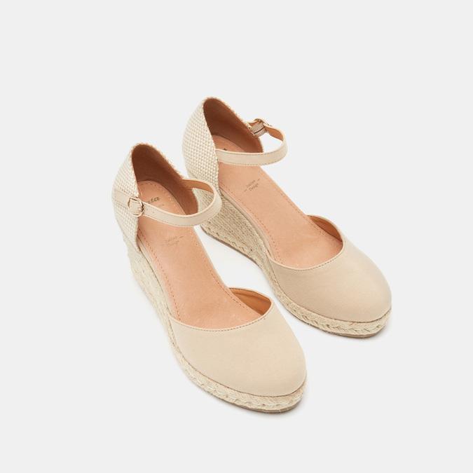 Sandales compensées bata, Beige, 769-8921 - 19