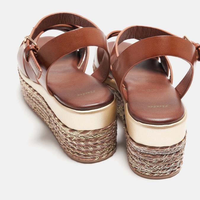 Sandales compensées bata, Brun, 761-3923 - 19