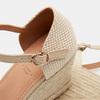 Sandales compensées bata, Beige, 769-8921 - 15