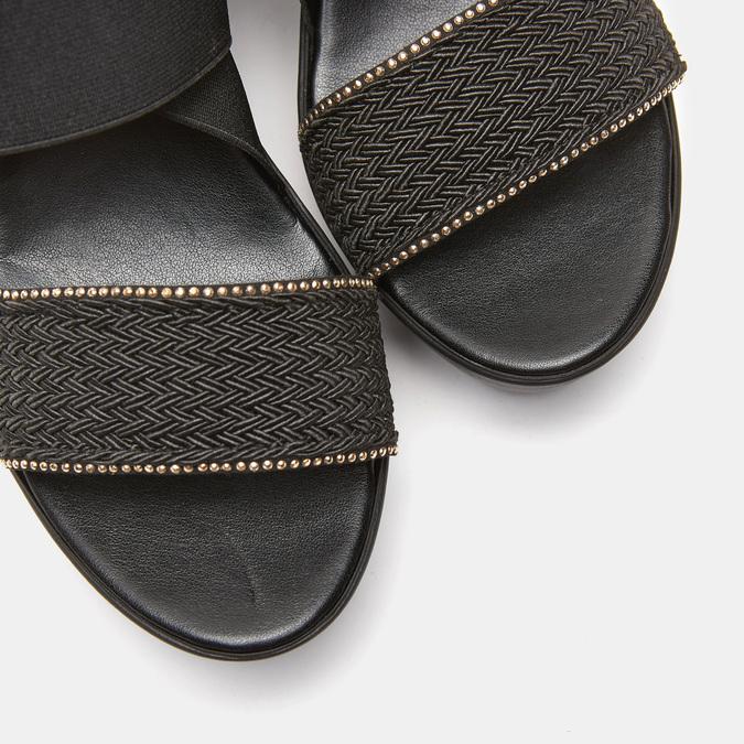 Sandales compensées bata, Noir, 769-6924 - 19