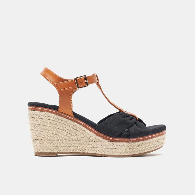 Sandales compensées bata, Noir, 769-6913 - 13