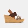 Sandales compensées bata, Brun, 769-3925 - 13