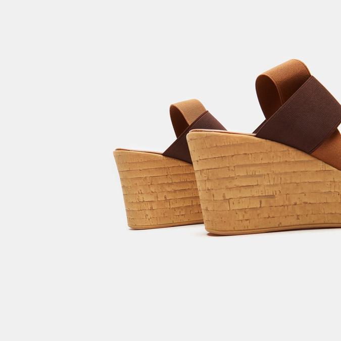 Sandales compensées bata, Brun, 769-3925 - 15