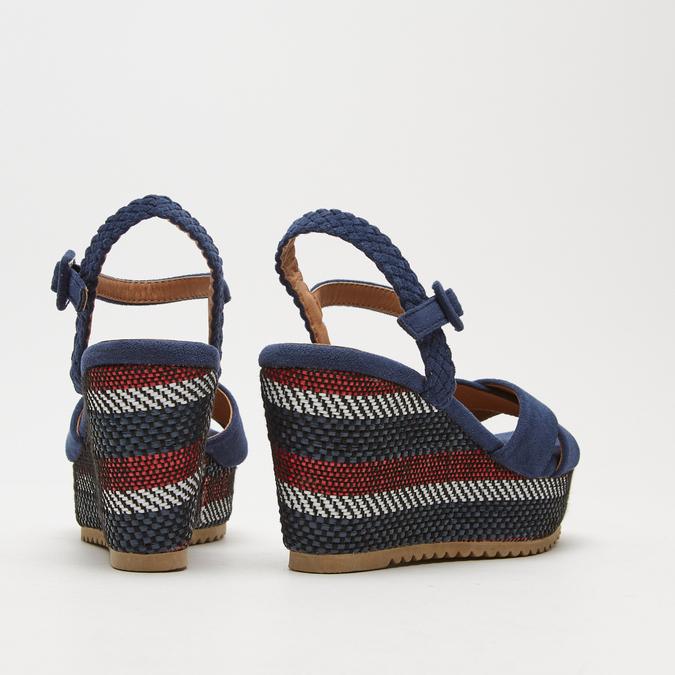 Sandales compensées bata, Bleu, 769-9920 - 15