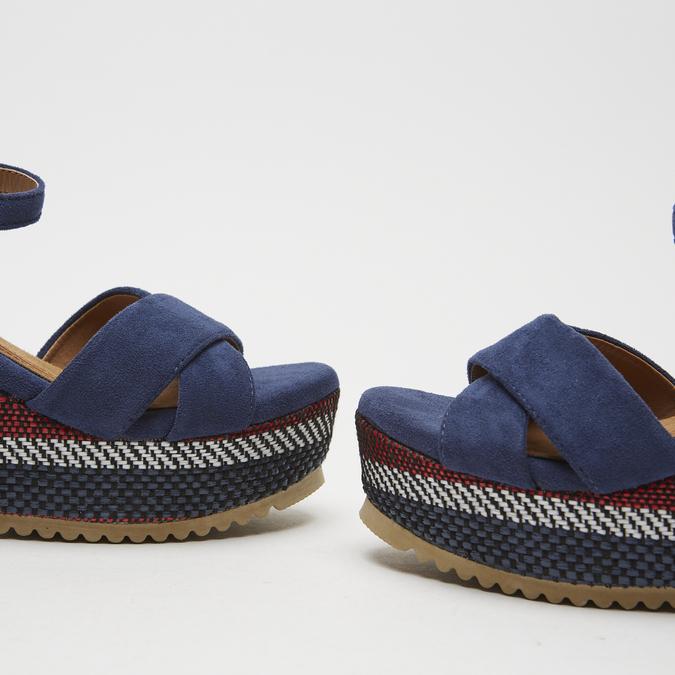 Sandales compensées bata, Bleu, 769-9920 - 16
