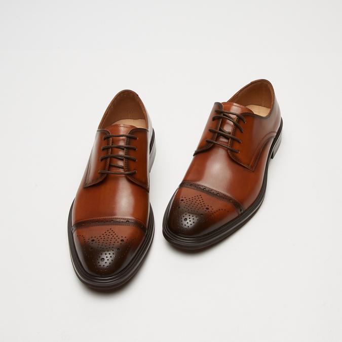 chaussures basses en cuir homme bata, Brun, 824-3172 - 26
