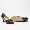 escarpins pointus en cuir bata, Noir, 624-6152 - 19