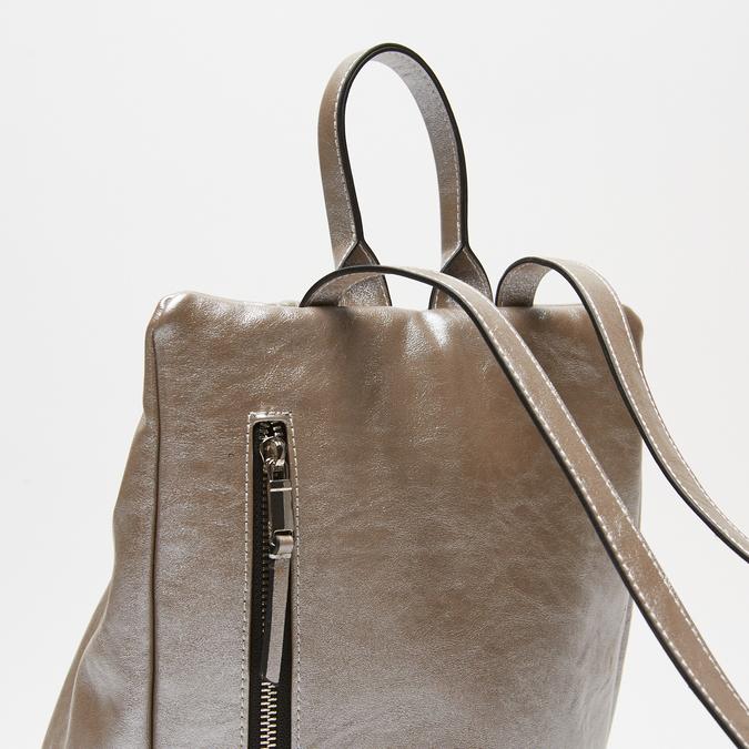 sac à dos à fermeture éclair femme bata, Gris, 961-2311 - 16