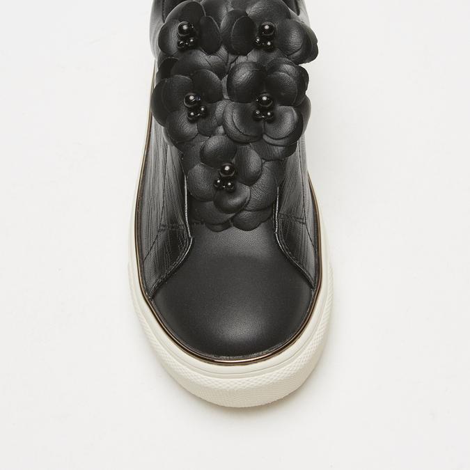 baskets à roses appliquées bata, Noir, 531-6149 - 19