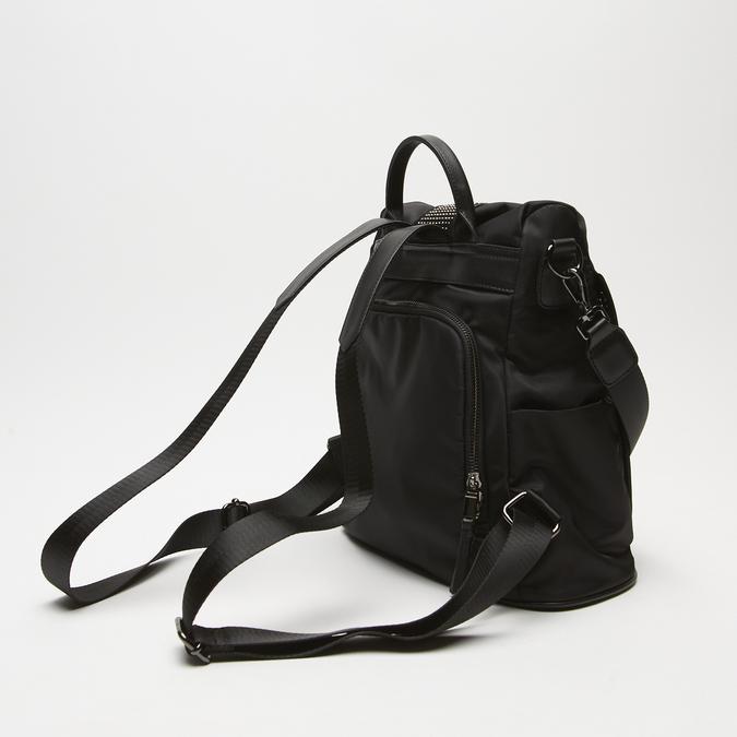Sac à dos en tissu clouté bata, Noir, 969-6109 - 16