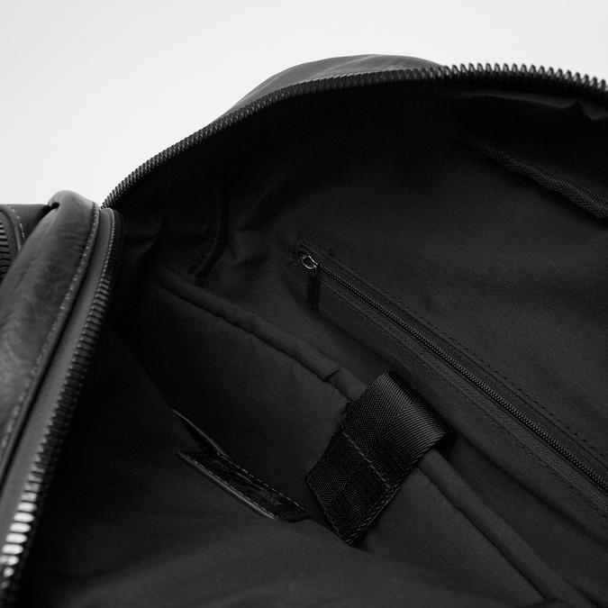 sac à dos à triple fermeture éclair bata, Noir, 961-6367 - 17