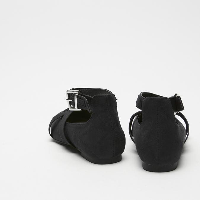 ballerines pointues à lanière bata, Noir, 529-6244 - 17