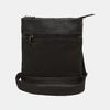 sac à bandoulière à double fermeture éclair bata, Noir, 961-6168 - 13