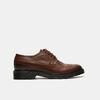 chaussures basses brogue en cuir bata, Brun, 824-4119 - 13