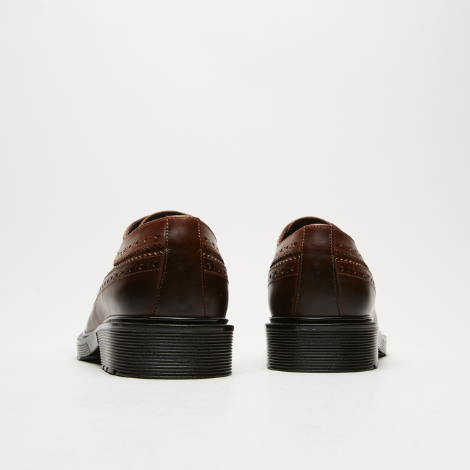 chaussures basses brogue en cuir bata, Brun, 824-4119 - 17