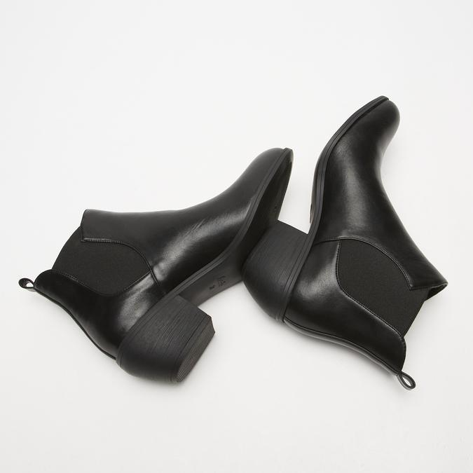 bottines pointues à talons cubains bata, Noir, 791-6466 - 15