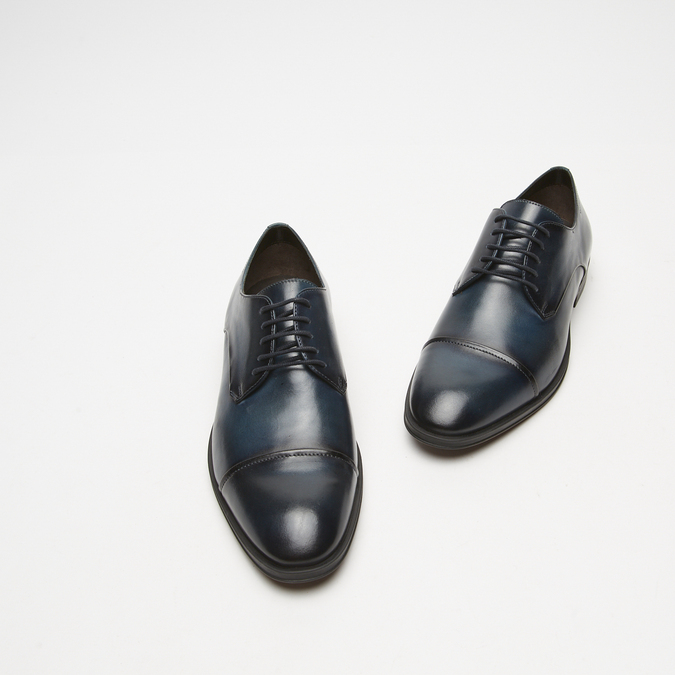 chaussures basses en cuir homme bata, Bleu, 824-9376 - 26