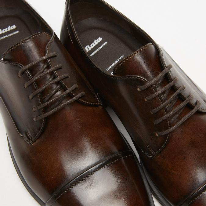 chaussures basses en cuir homme bata, Brun, 824-4376 - 17