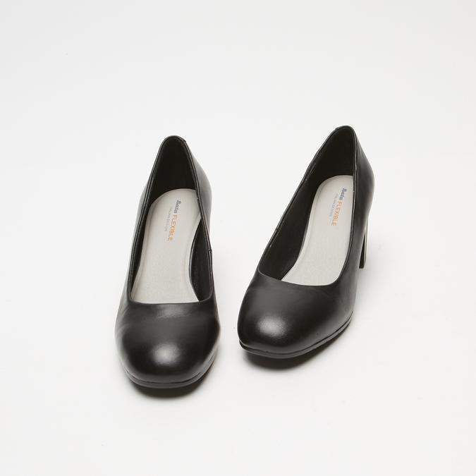 escarpins à talons larges et plateforme flexible, Noir, 724-6113 - 26