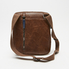 sac à bandoulière à trois fermetures éclair bata, Brun, 961-3366 - 15