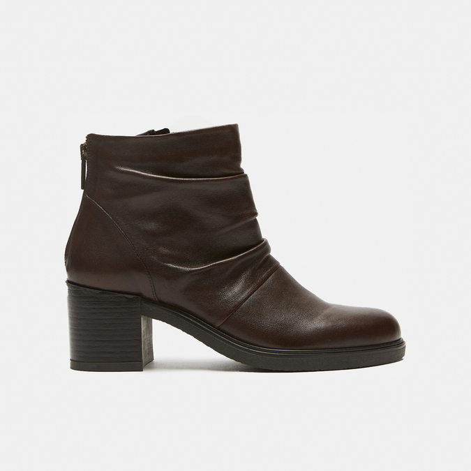 bottines en vrai cuir et à effet ondulé bata, Brun, 794-4753 - 13