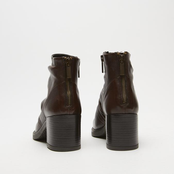 bottines en vrai cuir et à effet ondulé bata, Brun, 794-4753 - 15