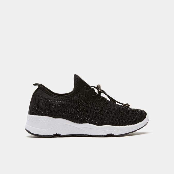 baskets en knit à strass bata, Noir, 539-6192 - 13
