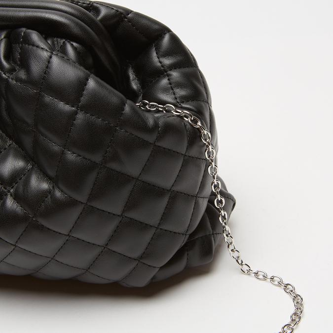 sac clutch à effet matelassé bata, Noir, 961-6342 - 26