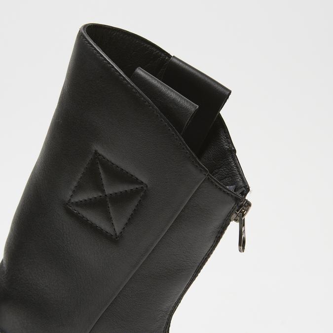 bottines en vrai cuir à fermeture éclair bata, Noir, 594-6426 - 17