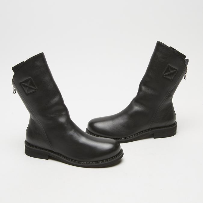 bottines en vrai cuir à fermeture éclair bata, Noir, 594-6426 - 16