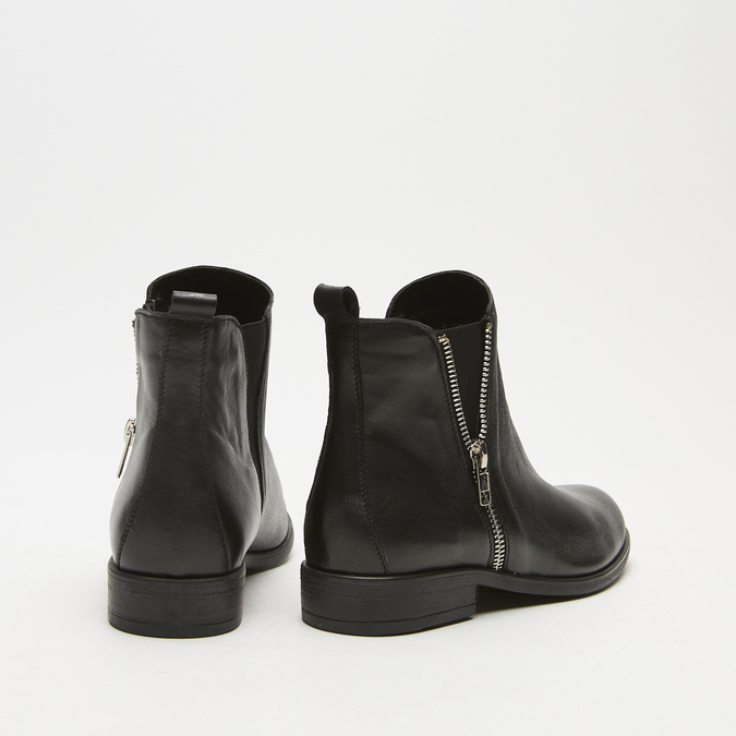 bottines en vrai cuir et à fermeture éclair latérale bata, Noir, 594-6428 - 15