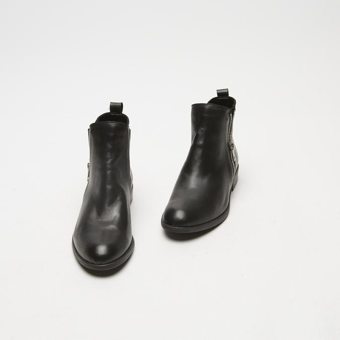 bottines en vrai cuir et à fermeture éclair latérale bata, Noir, 594-6428 - 17