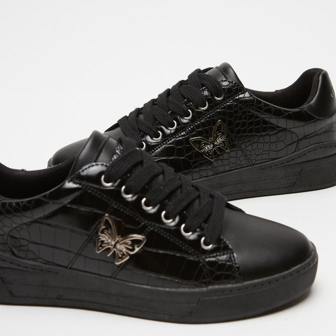 baskets avec imprimé crocodile bata, Noir, 541-6845 - 16