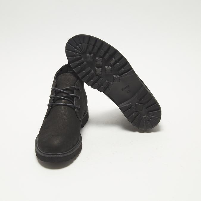 Desert boots en nubuck à semelle effet track bata, Noir, 896-6277 - 19