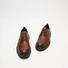 chaussures basses brogue en cuir à semelle track bata, Brun, 824-4226 - 26