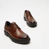 chaussures basses brogue en cuir bata, Brun, 824-3210 - 15