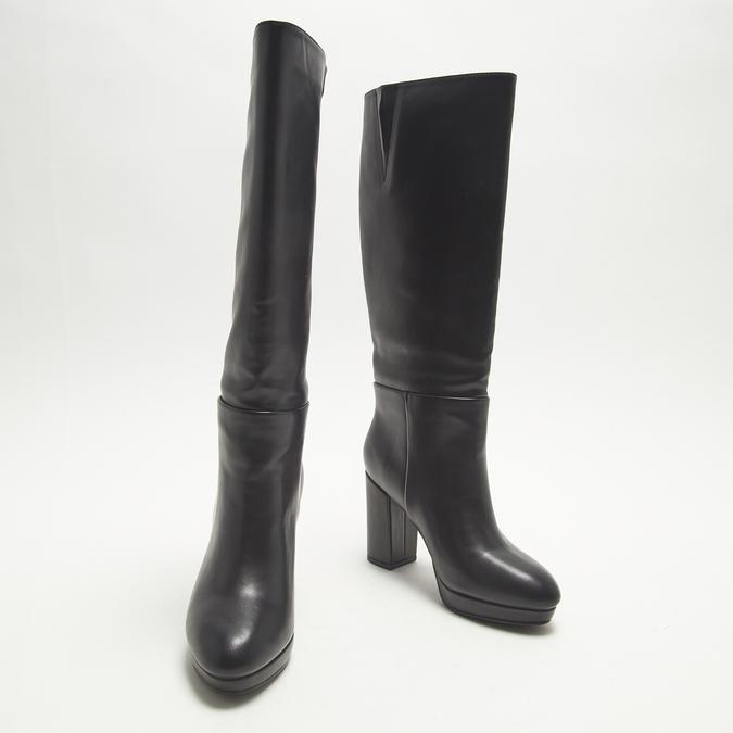 bottes en-dessous du genou à talons larges bata, Noir, 791-6257 - 16