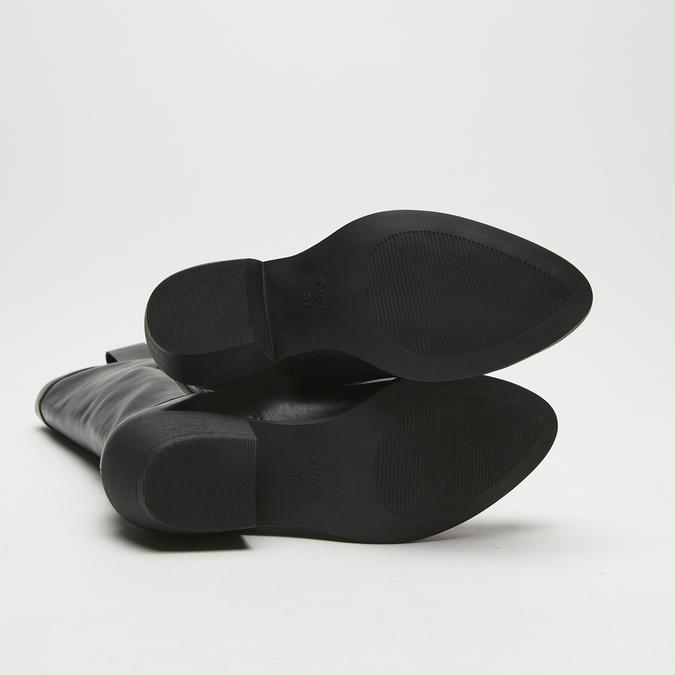 bottes de cow-boy en-dessous du genou à talons cubains bata, Noir, 791-6593 - 19
