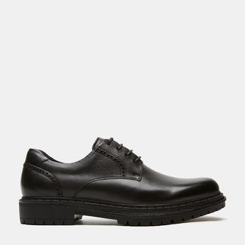 chaussures basses brogue en cuir bata, Noir, 824-6210 - 13